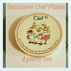 Chef Man Decorative Plate set